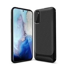 Voor Samsung Galaxy Note20 Ultra Carbon Fiber Textuur Schokbestendige TPU Beschermhoes (Zwart)