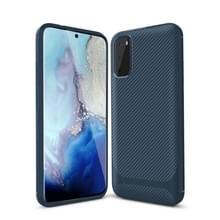 Voor Samsung Galaxy Note20 Ultra Carbon Fiber Textuur Schokbestendige TPU beschermhoes (blauw)
