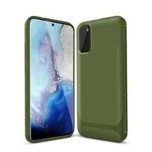 Voor Samsung Galaxy Note20 Ultra Carbon Fiber Textuur Schokbestendige TPU beschermhoes (groen)