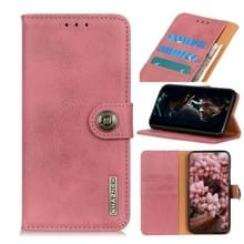Voor de Vivo Y70 (2020) / V20 SE KHAZNEH Cowhide Texture Horizontale Flip Leather Case met Holder & Card Slots & Wallet(Pink)