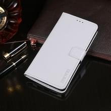 Voor ZTE Blade A7 Prime idewei Crazy Horse Texture Horizontale Flip Lederen Case met Holder & Card Slots & Wallet(White)