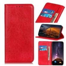 Voor de Vivo Y70 (2020) / V20 SE Magnetic Crazy Horse Texture Horizontale Flip Lederen kast met Holder & Card Slots & Wallet(Red)
