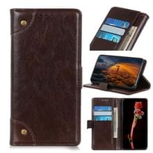 Voor de Vivo Y70 (2020) / V20 SE Copper Buckle Nappa Texture Horizontale Flip Leather Case met Holder & Card Slots & Wallet(Coffee)