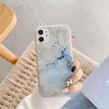 Marmeren patroon pailletten TPU beschermhoes voor iPhone 11(Wit)