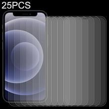 25 PCS Frosted Bright Edge Anti-vingerafdruk Tempered Glass Film Voor iPhone 12 mini