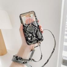 Crocodile Pattern PU + PC Case met kaartslot & schouderband voor iPhone 11 Pro(Groen)