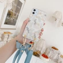 Gold Foil Style Dropping Glue Ribbon Bow TPU beschermhoes met halsband voor iPhone 11 Pro Max(Brush)