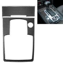 2 in 1 Auto Carbon Fiber Gear Panel + Sigaret Lighter Decoratieve Sticker voor Audi Q7 2008-2015  Links en Rechts Drive Universal