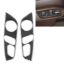 Auto Carbon Fiber Seat Adjustment Panel Decoratieve Sticker voor Audi Q7 2008-2015  Links en Rechts Drive Universal