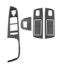 6 in 1 Auto Carbon Fiber Windows Glazen Lifter Paneel Decoratieve Sticker voor Audi Q7 2008-2015  Left Drive