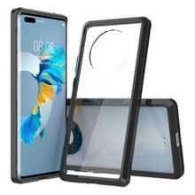 Voor Huawei Mate 40 Pro Scratchproof TPU + Acryl Beschermhoes(Zwart)