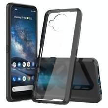 Voor Nokia 8.3 5G Scratchproof TPU + Acryl Beschermhoes(Zwart)