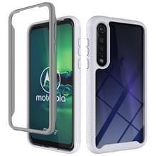 Voor Motorola Moto G8 Plus Starry Sky Solid Color Series Schokbestendige PC + TPU beschermhoes (wit)