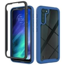 For Motorola Moto One Fusion Starry Sky Solid Color Series Shockproof PC + TPU Protective Case(Royal Blue)