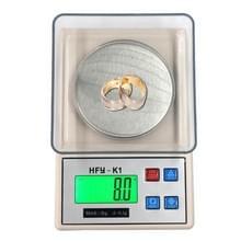 HFY-K1 3000 x 0.1 g professionele draagbare digitale gouden sieraden schaal met Back-Lit LCD Display  tarra  PC 's