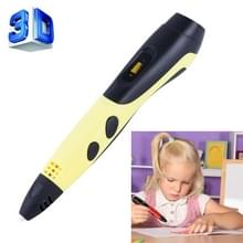 Gen van de 6de ABS / PLA Filament Kids DIY tekening afdrukken in 3D Pen met LCD Display(Yellow+Black)