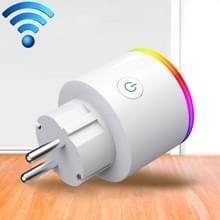 15a WiFi EU Plug Power Adapter elektriciteit statistieken APP Remote Control Timer Smart Socket  met Alexa & Google Startpagina & RGB kleuren LED licht  100-250 v AC