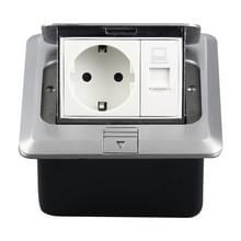 Verborgen pop-up aluminium computer vloer socket met cover onder vak  EU plug