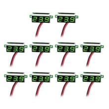 10 stuks 0 36 inch 2 draden digitale Voltage Meter  licht kleurendisplay  maatregel Voltage: DC 2.5-30V(Green)