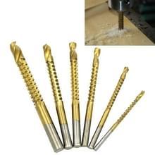 6 STKS/set hoge snelheid staal rechte schacht twist boor voor het boren van metaal  hout en kunststoffen