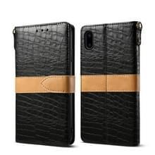 Lederen beschermhoes voor iPhone XS Max (zwart)