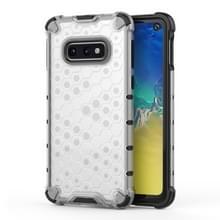 Schokbestendige honingraat PC + TPU beschermende case voor Galaxy S10e (wit)