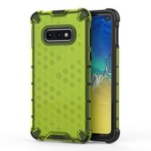 Schokbestendige honingraat PC + TPU beschermende case voor Galaxy S10e (groen)