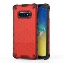Schokbestendige honingraat PC + TPU beschermende case voor Galaxy S10e (rood)