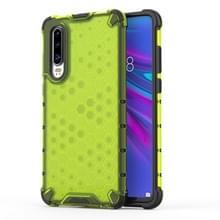 Schokbestendige honingraat PC + TPU beschermende case voor Huawei P30 Lite (groen)