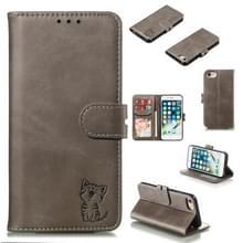Lederen beschermhoes voor iPhone & (grijs)