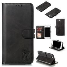 Lederen beschermhoes voor iPhone 6 plus & 6s plus (zwart)