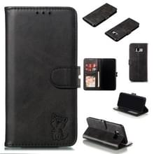 Lederen beschermhoes voor Galaxy S8 plus (zwart)