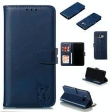Lederen beschermhoes voor Galaxy S8 plus (blauw)