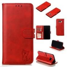 Lederen beschermhoes voor Galaxy S8 plus (rood)