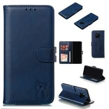 Lederen beschermhoes voor Huawei mate 20 Pro (blauw)
