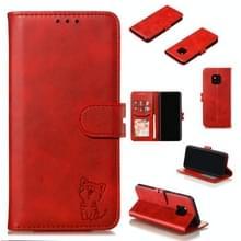 Lederen beschermhoes voor Huawei mate 20 Pro (rood)