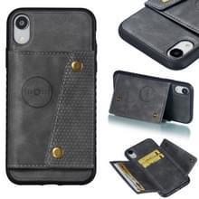 Lederen beschermhoes voor iPhone XR (grijs)