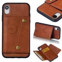 Lederen beschermhoes voor iPhone XR (bruin)