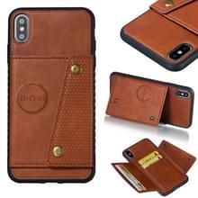 Lederen beschermhoes voor iPhone XS Max (bruin)