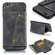 Lederen beschermhoes voor iPhone 6 & 6s (grijs)