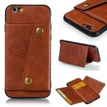 Lederen beschermhoes voor iPhone 6 & 6s (bruin)
