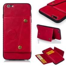 Lederen beschermhoes voor iPhone 6 plus & 6s plus (rood)