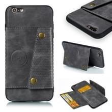 Lederen beschermhoes voor iPhone 6 plus & 6s plus (grijs)