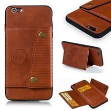 Lederen beschermhoes voor iPhone 6 plus & 6s plus (bruin)
