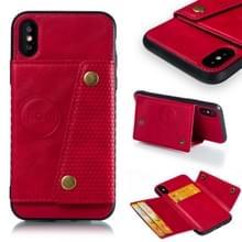 Lederen beschermhoes voor iPhone X & XS (rood)