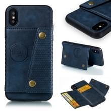 Lederen beschermhoes voor iPhone X & XS (blauw)