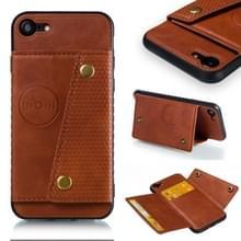 Lederen beschermhoes voor iPhone & (bruin)