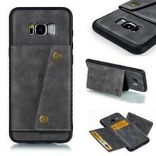Lederen beschermhoes voor Galaxy S8 plus (grijs)