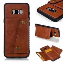 Lederen beschermhoes voor Galaxy S8 plus (bruin)