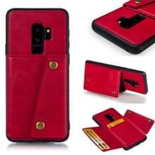Lederen beschermhoes voor Galaxy S9 plus (rood)